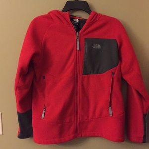 North Face Boys Fleece Jacket Red/Black 14/16 (L)